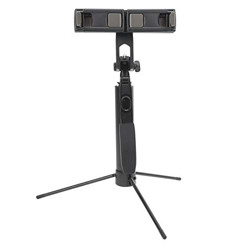 Gaeirt Trípode Selfie Stick, Ubicación de Teléfono Dual Selfie Stick, Ángulo de Rotación de 360 ° Trípode de Diseño Retráctil para Tomar Fotos o Transmitir en Vivo, Fácil de Transportar