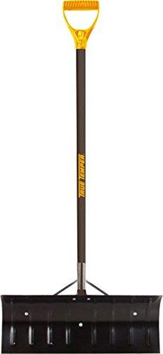 True Temper 1639300 Steel Snow Pusher with D-Grip Hardwood Handle, 24 Inch