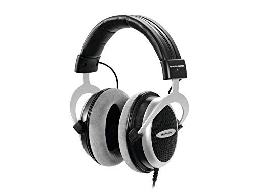 OMNITRONIC SHP-600 HiFi-Kopfhörer | Halboffener, ohrumschließender, dynamischer Stereokopfhörer | Gepolsterter, höhenverstellbarer Aluminiumbügel