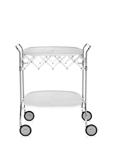 Kartell Gastone Rollwagen, Kunststoff, Weiß, 62 x 70 x 68 cm