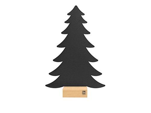 Kalamitica Plaque métallique Anthracite de sapin avec pied en bois pour magnétique Casseroles de, écriture, 24 x 36 cm Comme Décoration ou murale Rangement, 25040–102–057