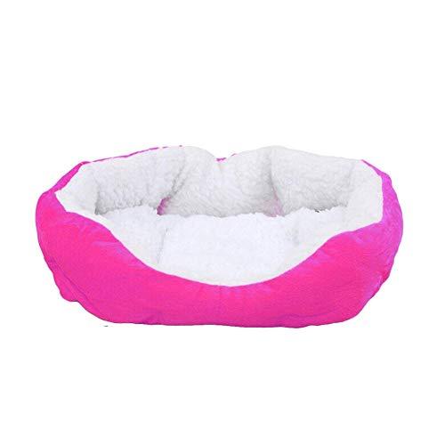AAGOOD Cama redonda Snuggery madriguera animal doméstico del perro del gato del perrito caliente cama suave y acogedor Casa Nido estera del cojín para mascotas - Rose Red