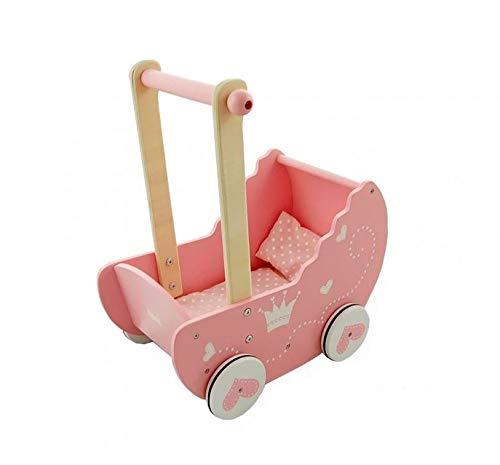 Lelin Holz Prinzessin Puppe Kinderwagen Buggy Kinderwagen Mädchen Kinder Pretend Play