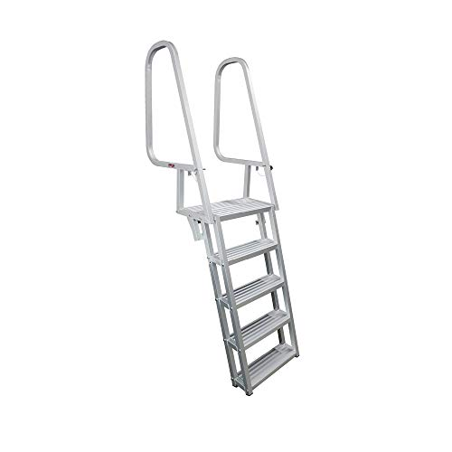 Extreme Max 3005.4119 Deluxe Flip-Up Dock Ladder - 5-Step