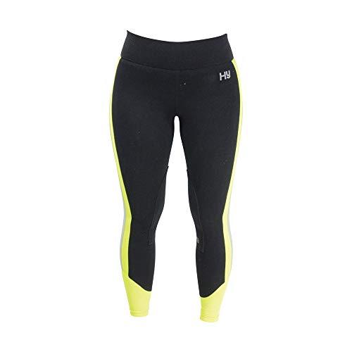 Hyviz - Reflector - Pantaloni da Equitazione - Donna (24-61 cm) (Giallo/Nero)