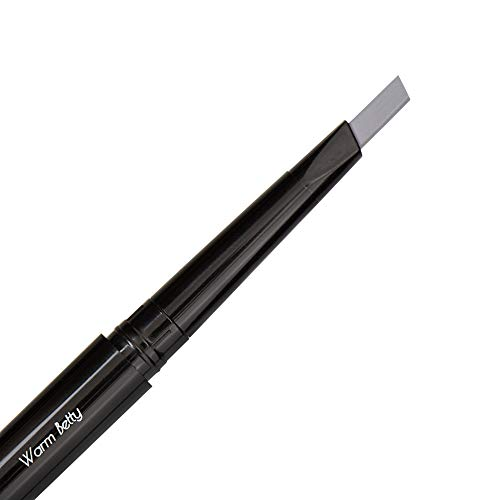 Light Gray Eyebrow Pencil – Warm Betty, Waterproof, Double-Ended Automatic Angled Tip & Spoolie Brush, Cruelty-Free
