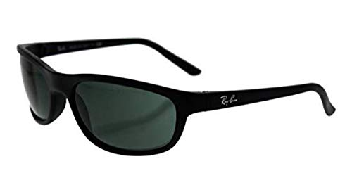 Ray-Ban Men's RB4114 Rectangular Sunglasses, Matte Black/Green, 62 mm