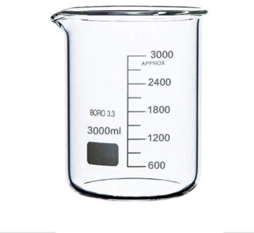 Rocwing - Boro 3.3 Glas Messbecher für Labor (3L)