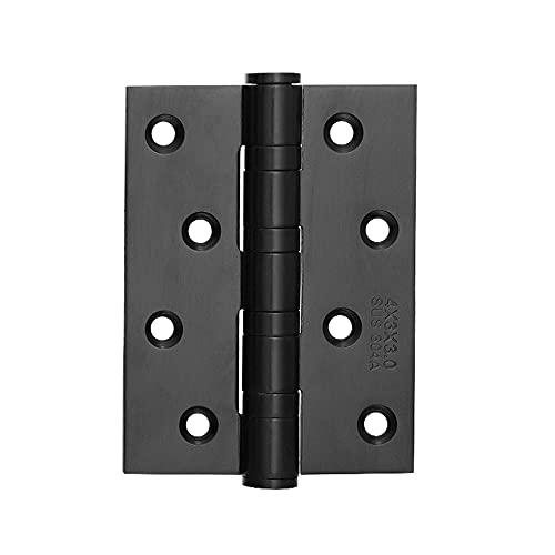Kvadratisk dörr gångjärn 2 rostfritt stål 304, tjock 3mm sfärisk dörr gångjärn är tyst, slät antik dörr gångjärn, mycket lämplig för tunga dörrar (Color : 4 inch matt black 3 packs)