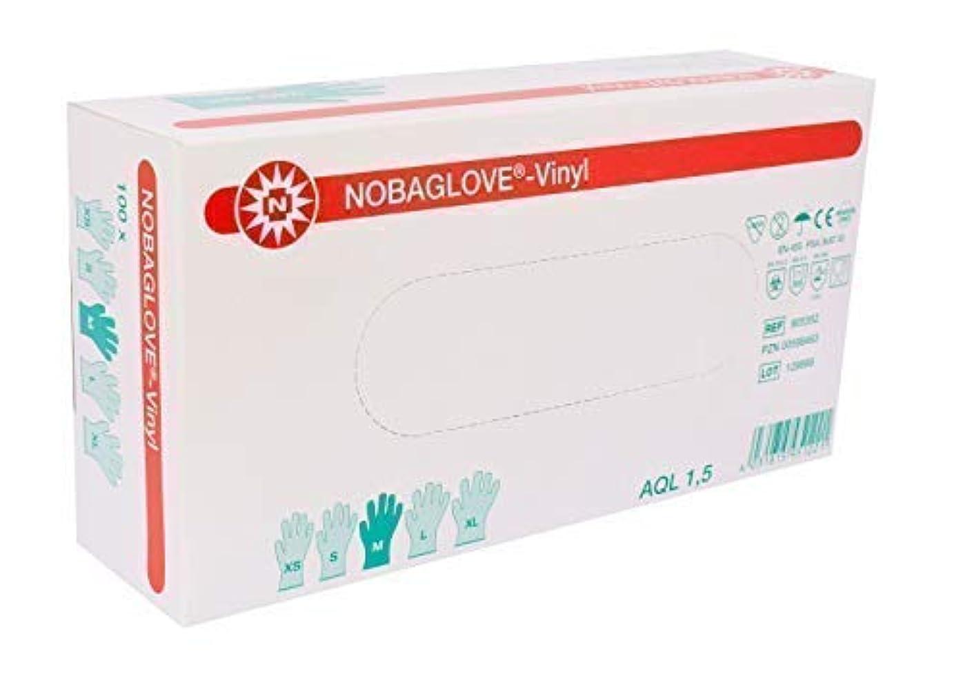 解釈めまいが同一の100 Pcs Nobaglove Disposable Gloves Vinyl Powder Free - medium, not present by Noba Verbandmittel