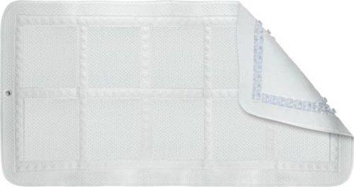 Croydex Hygiene 'N' Clean Anti-Bacterial Slip-Resistant Textured Cushioned Medium Bath Mat, 35 x 70 cm, White