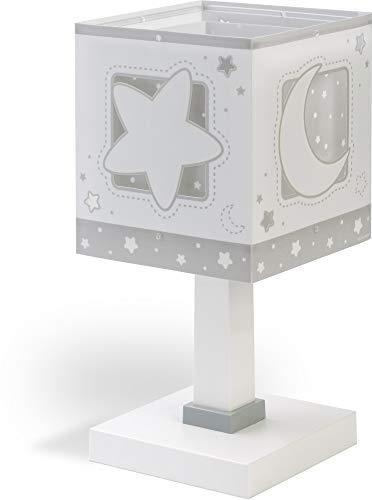 Dalber - Lampada da tavolo E-14, Chiaro di luna grigio, Multicolore, 14 x 14 x 29