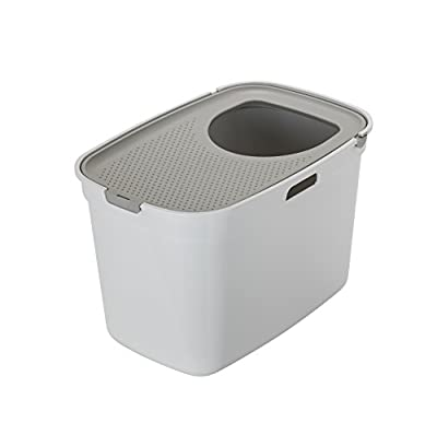 Moderna Top Cat Litter Box, White