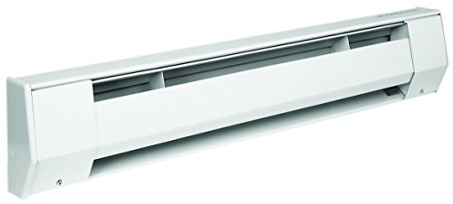 KING 6K2415BW K Series Baseboard Heater, 6' / 1500-1125W / 240-208V, Bright White