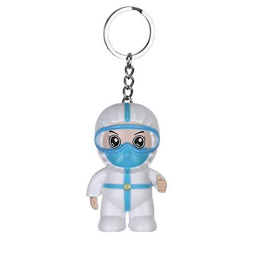 KongLyle 2020 Llavero de ángel blanco, llavero con sonido LED para mochila, bolso, bolso de hombro, cartera