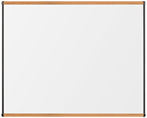 Best-Rite TuF Rite Melamine Dry Erase Whiteboard, Origin Trim, Medium Oak,...