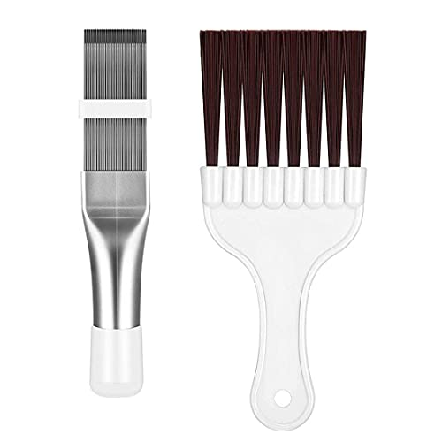 Fin Cleaning Brush Air Conditioner Condenser Fin Comb Coil Cleaning Whisk Brush 2PCS,hardware tools