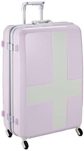 [イノベーター] スーツケース 受託手荷物無料サイズ カードロック ベーシックモデル INV68T 保証付 90L 68 cm 4.8kg ピンク/アイボリー