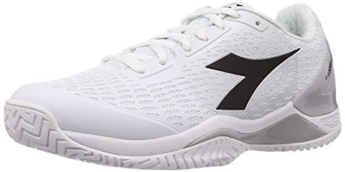 Diadora Herren Speed Blushield 3 AG Allcourtschuh Tennisschuhe, White Silver Dd Black