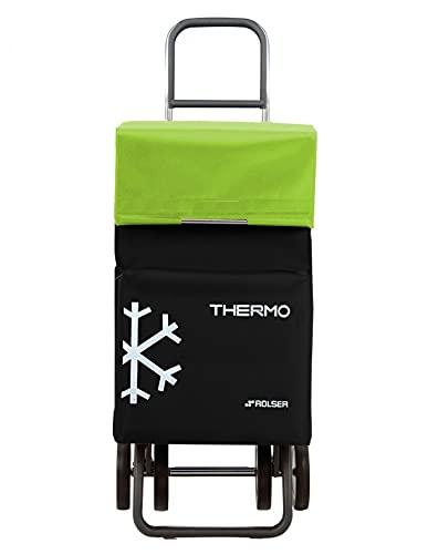 Rolser Termo Fresh MF 4 Wheels Market Stroller - Black and Lima