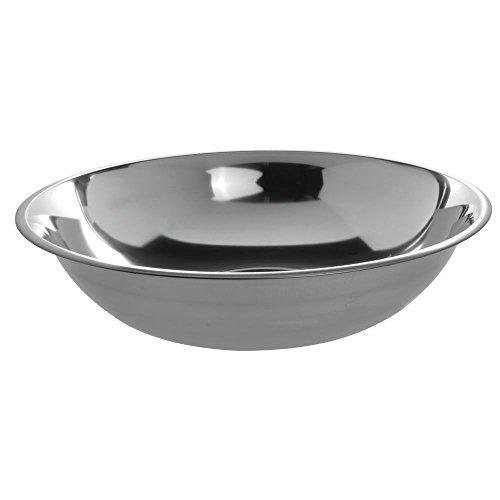 HUBERT 10 qt Mixing Bowl 24 Gauge Stainless Steel – 15 1/4″Dia x 4 1/2″D
