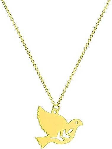 Collar de Moda Collar de Acero Inoxidable Collar Mujer Media Luna Girasol Infinito Lobo León Pájaro sordo Amor Colgante Collar Joyería Regalos
