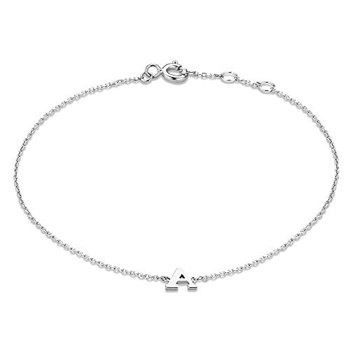 Isabel Bernard Saint Germain Rachel 14 Karaat Witgouden Initial Armband IB320041-J