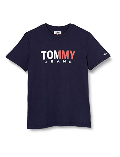 Tommy Jeans Herren TJM Tommy Colored Tee Sporthemd, Blau (Blue Cbk), Large