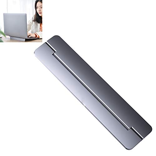 Laptop Stand Soporte Portatil Mesa Aluminio Ergonomico Elevador Ventilado para Macbook iPad Y DELL HP Samsung,Gris