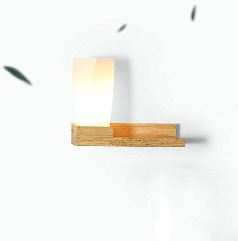 SPA  Kreative Wandleuchte aus Massivholzglas Japanische Regale Lampen Eingang Schlafzimmer-Nachttischlampen (Das Produkt enthlt kein Zubehr) E27