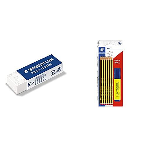 STAEDTLER Radierer 52650 + STAEDTLER 120BK12P1Special Pack 12Noris Pencils 120-HB, Mulicoloured