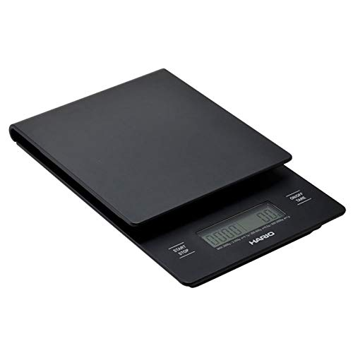 Hario VST-2000B V60 Drip Coffee Scale and Timer, 1 EA, Black