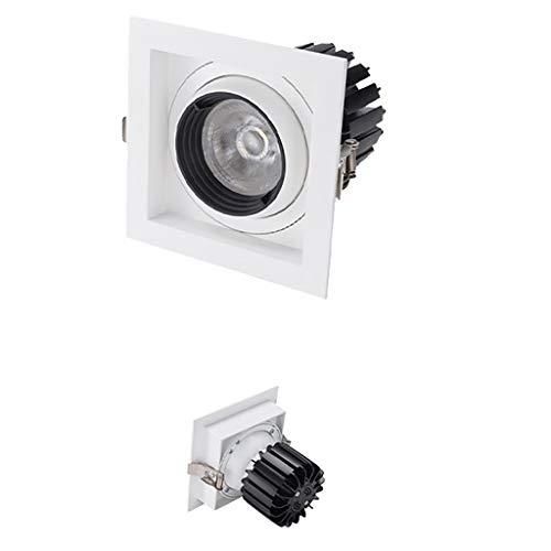LED-Platz Single Head White Light, 5000K Blend COB Decke, Geeignet for Einbaufenster beleuchtet in Einkaufszentren und Hotels