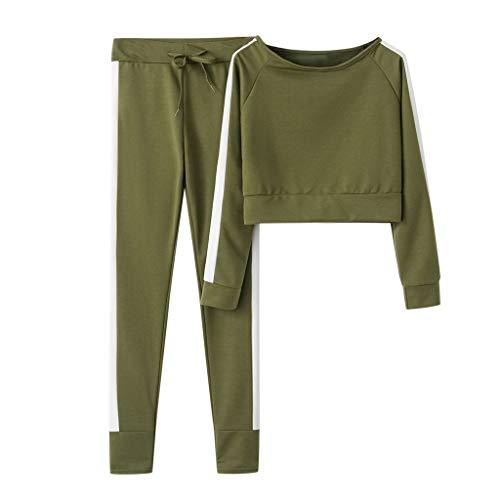 Frauen Solid Color Hooded Sweatshirt und Hose Trainingsanzug Sportanzug