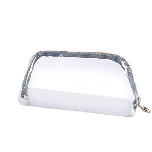 wyxhkj-Sac de rangement Poche de support de sac de lavage de voyage de voyage de PVC de maquillage de maquillage cosmétique imperméable de maquillage Trousse de toilette transparente (vert)