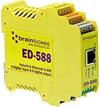 BRAINBOXES ED-588 Brainboxes ED-588 Ethernet to Digital IO 8 in + 8 Out + RS485 Gateway Port, ASCII or Industry Standard Modbus TCP, Software APIs