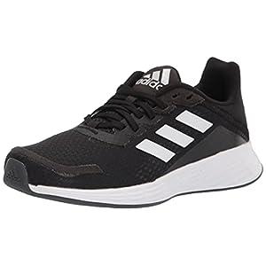 adidas Duramo SL Running Shoe, Black/Cloud White/Dash Grey, 12 US Unisex Little Kid