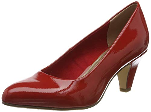 Tamaris Damen 1-1-22416-23 Pumps, Rot (Chili PATENT 520), 37 EU