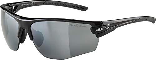 ALPINA Unisex - Erwachsene, TRI-SCRAY 2.0 HR Sportbrille, black, One size