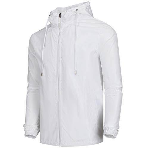 WULFUL Men's Lightweight Windbreaker Jacket Waterproof Hooded Outdoor Jackets Casual Outwear Light Jacket