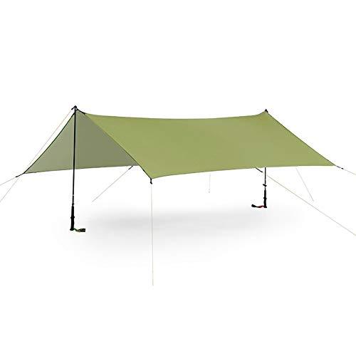 ENCOFT Tenda a Vela Impermeabile Quadrata 3x3m con 6 Corda, Vela Ombreggiante Esterno Anti UV, Telo da Sole per Giardino Patio Viaggio, Verde