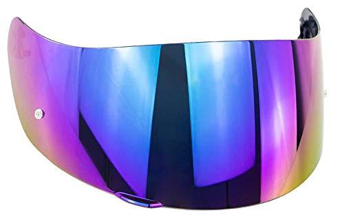 Helmvisier Agv K5 K1 K3 sv K5s S4-sv Horizon Skyline Stealth-sv Visier Klar Blau Smoke Iridium Gold Spiegel Ersatzvisier Gt-2 Nicht Original Aftermarket (Iridium Regenbogen)