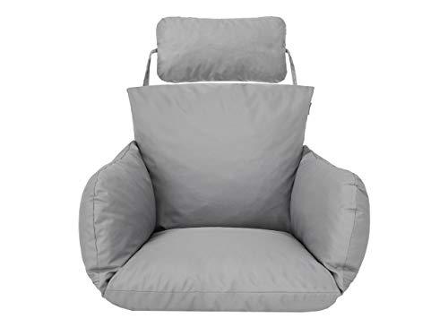 Cuscino per poltrona sospesa, cuscino di ricambio, lavabile, per altalena, in rattan sintetico, cuscino per la schiena, cenere