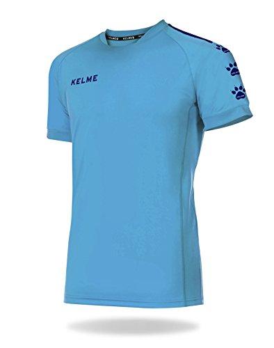 KELME Lince Camiseta Fútbol, Niños, Azul Celeste/Marino, L