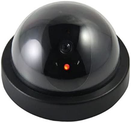 Everycom Realistic Looking Dummy Security CCTV Camera with Flashing Red LED Light for Office and Home (Black)