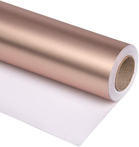 RUSPEPA Rose Gold Matte Wrapping Paper 81 5 Sq Ft Solid Color Paper Perfect for Wedding Birthday product image