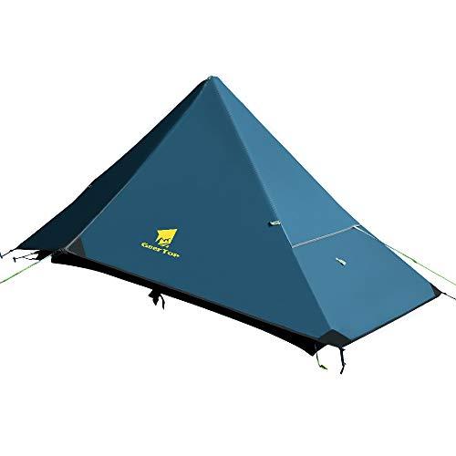 GEERTOP Tienda 1 Persona de Mochilero 4 Estaciones Tienda Impermeable Carpa de Trekking Ultraligero Ideal para Alpinismo Senderismo,Acampar,Escalada, Al Aire Libre,Viaje y Camping