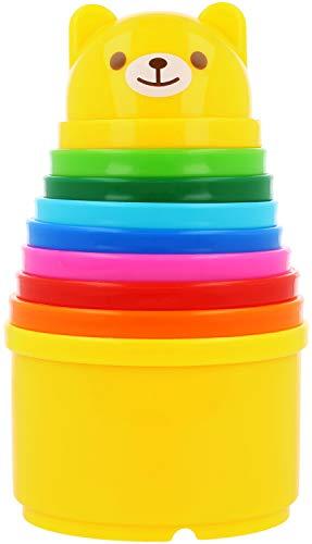 com-four® Bauble Toys pour Le tri et l'empilement - Gobelets colorés pour Le développement de la motricité
