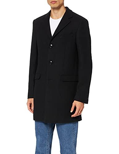 Amazon-Marke: find. Herren Mantel Wool, Grau (Charcoal), M, Label: M
