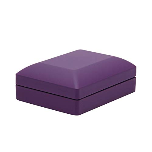 YuoungYuan Cajas para Joyas Caja de Collar Led Caja de Anillo Sostenedor del Collar Sostenedor del Pendiente Luz Caja de joyería Caja de Regalo Purple,7.2 * 6 * 1.5cm